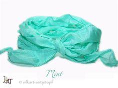 Habotai  Seidenband ✻Mint✻ breit von SilkArt AntjeTopf - Seidenbänder auf DaWanda.com