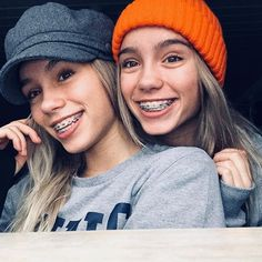 We're gonna take over the Instastory from Lisa & Lena tomorrow! Cute Girls With Braces, Braces Girls, Cute Braces, Celebrities With Braces, Celebs, Bff Goals, Best Friend Goals, Girl Tongue, Lisa Or Lena