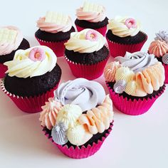 Cupcakes: Textured buttercream. My Email, Mini Cupcakes, Frost, The Past, Treats, Desserts, Sweet Like Candy, Tailgate Desserts, Goodies