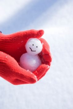 World's smallest snowman!