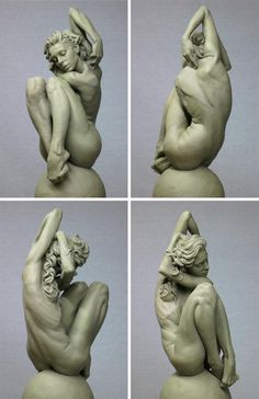 Eric Michael Wilson makes great statues and his #anatomy is spot on. A very dynamic pose. I wonder if he used a live model.
