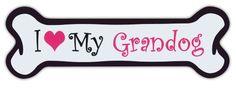Pink Dog Bone Shaped Magnets: I Love My Grandog | Cars, Trucks and More! Crazy Sticker Guy http://www.amazon.com/dp/B00JJ6FV3W/ref=cm_sw_r_pi_dp_xA.Ovb07FCZ98