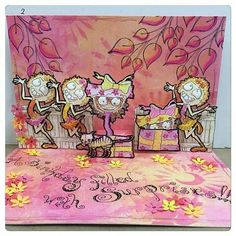 Guest Post  Virginia England's Bloobel Stamps Pop Up Card