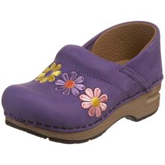 Dansko Womens Gitte Embroidered Clog - Lavender Nubuck EU 34 US Little Girl Shoes, Girls Shoes, Little Girls, Dansko Shoes, Clogs, Fashion Shoes, Girl Fashion, Womens Fashion, Shoe Gallery