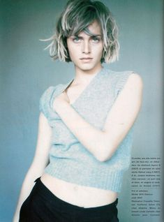 """French Glamour September 1994 """"Juste Une Envie"""" Amber Valletta by Paolo Roversi Simply Hairstyles, 2015 Hairstyles, Paolo Roversi, Hair Inspo, Hair Inspiration, Short Hair Cuts, Short Hair Styles, Glamour France, Short Shaggy Haircuts"""