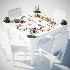 Furniture Set For Outdoor Dining, Prevents Plates From Flying Away