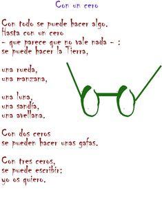 Con un cero (Poema de Gloria Fuertes).