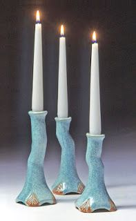 ceramic candle holders.