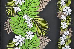 PBA0959 - 65% Polyester & 35%Cotton Fabric: Border Hawaiian Print Fabric