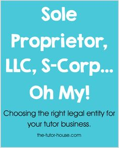 Lots of questions have been coming in about whether to be a sole proprietor, LLC, or S-Corp.  I decided to invite my father in-law to chat with me about this topic with all of you!  My fa...
