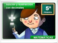 """""""Adición y sustracción con decimales"""" (Aplicación interactiva de Matemáticas de Primaria) Family Guy, Blog, Maths Area, Learning Numbers, Addition And Subtraction, Math Games, Teaching Resources, Blogging, Griffins"""