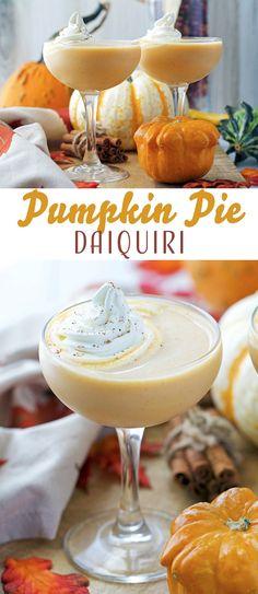 Pumpkin Pie Daiquiri - a creamy cocktail that rivals even the best Pumpkin Spice Latte for best fall drink!