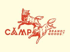 Camp_brand_goods_co._-_fall_tee love anything with dogs, especially retro. Makes me want to go to camp.from jenniferjennings/illustration board.