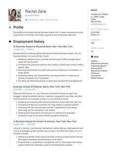 Business Analyst Resume Making Guide 12 Free Examples To Land Your Next Job All Contain This Cv Trends