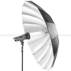 "PIXAPRO 71"" Black/Silver Umbrella   Essential Photo   Photographic lighting and equpiment"