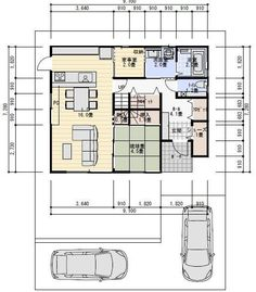 Japanese Apartment, Craftsman Floor Plans, One Bed, Japanese House, House Layouts, My House, House Plans, Cabin, Flooring