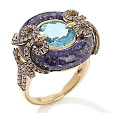 """The marriage of the gemstones is genious.  Leave it to Carol Brodie and her """"RARITIES"""", FINE JEWELRY COLLECTION."""