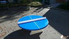 Pingpongtafel Rond Blauw bij Albert-Einstein-Schule in Frechen