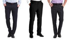 Groupon - 2 paia di pantaloni da uomo in misto lana. Vari colori disponibili a [missing {{location}} value]. Prezzo: €29,99