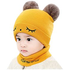 Spring Autumn Soft Cartoon Infant Baby Boy Girl Elastic Beanie Cap Hat N UK/_ FJ