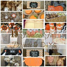 19 Fab Projects for Fall - includes fun ideas for fall themed goodness, Halloween and Thanksgiving.  Be inspired!