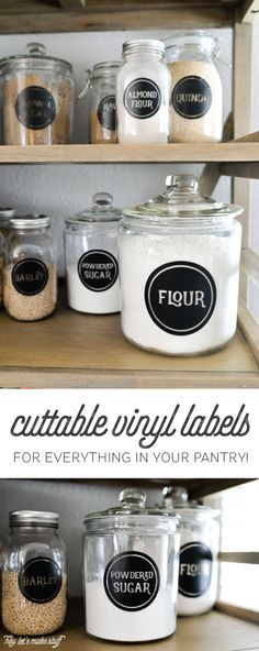 The Ultimate Vinyl Pantry Label Bundle -- 72 labels for everything in your pantry to cut on your electronic cutting machine!