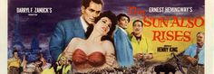 The Sun Also Rises is a 1957 film adaptation of the Ernest Hemingway novel of the same name directed by Henry King. Ernest Hemingway, The Sun Also Rises, Ava Gardner, Film, Movie Posters, Libros, Movie, Film Stock