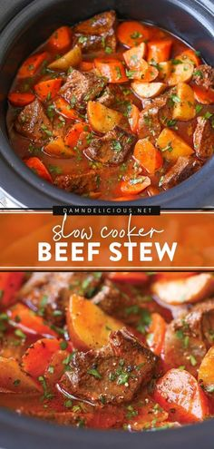 447 reviews · 9 hours · Serves 8 · Learn how to make Beef Stew in the slow cooker for a family dinner idea! With tender meat and vegetables, this crockpot meal is rich, hearty, and comforting. Pin this easy beef recipe for later! Beef Stew Crockpot Easy, Slow Cooker Soup, Slow Cooker Recipes, Beef Recipes, Soup Recipes, Crockpot Meals, Fall Recipes, Yummy Recipes, Soups