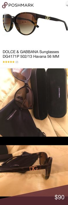 Dolce & Gabbana sunglasses Polarized, brown, Dolce & Gabbana sunglasses. They are pre-owned and only used a handful of times. They are in excellent condition. I originally purchased them from Sunglass Hut, but have barely worn them. They come with a dust bag and hard case. Dolce & Gabbana Accessories Sunglasses