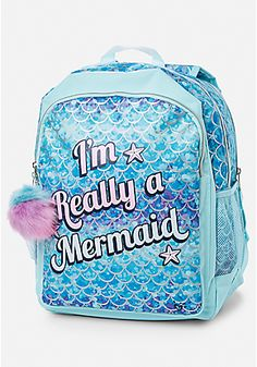 Mermaid 2-Sided Backpack