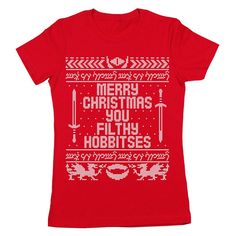 You Filthy Hobbitses Merry Christmas Funny Lord Of by CPClothing