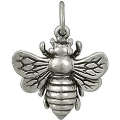 Large Sterling Silver Honeybee Bumble Bee Charm (.85x.73 inches). $24.75 Retail, wholesale pricing available on website http://www.ninadesigns.com/bali_bead_shop/large_sterling_silver_honeybee_bumble_bee_charm/a1162/details