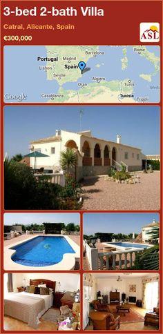 3-bed 2-bath Villa in Catral, Alicante, Spain ►€300,000 #PropertyForSaleInSpain