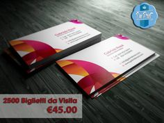 #SpecialPrice #Offerta #DMPrint  2500 #BigliettiDaVisita F.to 8,5x5,5 cm #Stampa a #Colori Fronte e Retro su #Carta Patinata Opaca €45.00