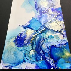 Excited to share the latest addition to my #etsy shop: ORIGINAL Abstract Alcohol Ink Painting with Mat (color may vary) -- Abstract Art, Wall Art, Ink Art, Modern Art, Visual Art https://etsy.me/2pJXulp #art #painting #blue #gold #alcoholink #art #mothersday #giftideas