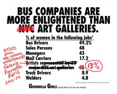 Bus Companies Are More Enlightened Than Art Galleries 2014 Guerilla Girls