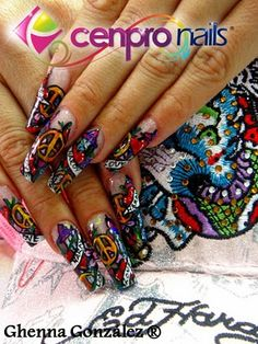 Purple and turquoise with glitter nails flirtatious nails ed hardy nail art google search prinsesfo Choice Image