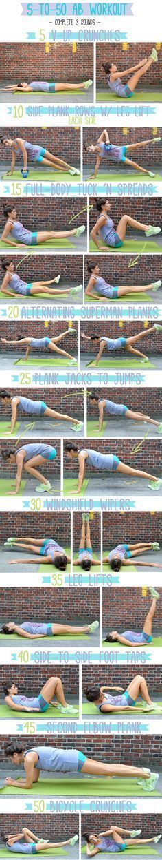 5 to 50 ab workout #fitness #workout http://genf20-plus-review.com/