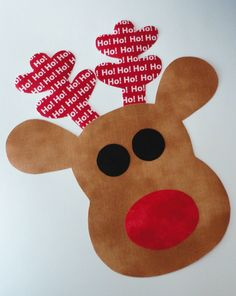 Iron On Applique LARGE REINDEER
