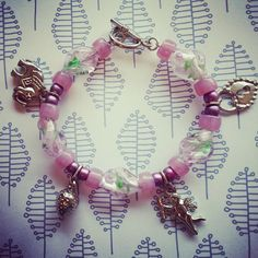 Pink Lucky Charm Bracelet $14.95 go to withlovefromliz.etsy.com