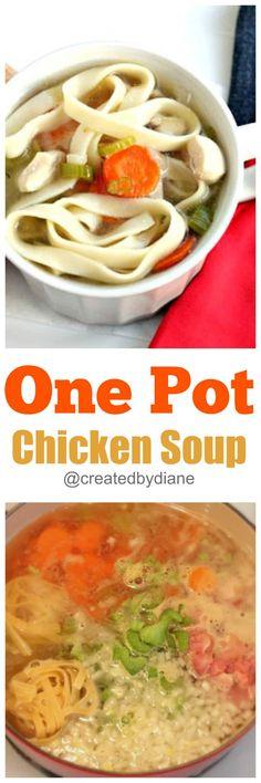 one pot chicken soup @createdbydiane