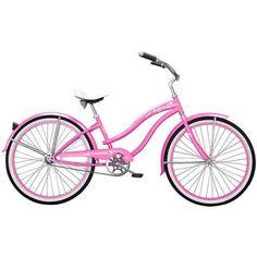 26 inch Micargi Rover GX Women's Beach Cruiser Bike, Pink