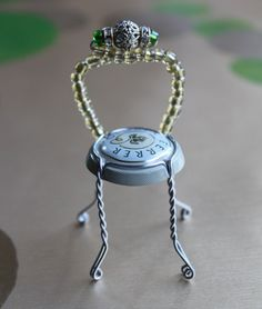 Beaded Champagne Chair from My Material Life blog