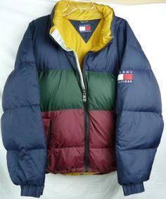 Tommy Hilfiger Men's Puff Down Winter Jacket Zip Front Size XL