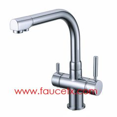 Rolya Polished Chrome Tri Flow Kitchen Sink Mixer Faucet Professional  Manufacturer | Osmosis Reverse 3 Way