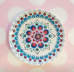 Dot Art Painting, Mandala Painting, Pottery Painting, Plate Wall Decor, Plates On Wall, Stippling Art, Mandala Rocks, Aboriginal Art, Cute Gifts