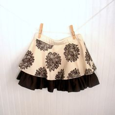 e7a180488f7c9 Items similar to Organic Girls Skirt - Double Circle Skirt - Eco Friendly  Kids Clothes - Back to School - Brown and Natural - Sizes 2-12 on Etsy
