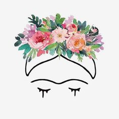19 ideas wallpaper frida kahlo flowers for 2019 Frida Kahlo Prints, Frida Kahlo Tattoos, Frida Kahlo Artwork, Flower Crown Drawing, Frida Paintings, Mexican Flowers, Frida Art, Trendy Wallpaper, Mexican Art