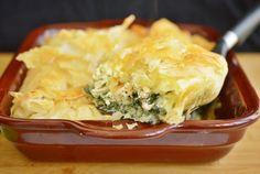 Retete Culinare - Placinta cu spanac si pui