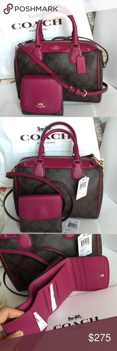 Handbags & Wallets - Coach Purse Wallet Authentic Coach Purse and Wallet, both brand new with tag! Coach Bags Crossbody Bags - How should we combine handbags and wallets? Coach Handbags, Louis Vuitton Handbags, Tote Handbags, Purses And Handbags, Leather Handbags, Crossbody Bags, Unique Handbags, Straw Handbags, Vintage Handbags